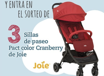 3 sillas de paseo Pact Color Granberry de Joie