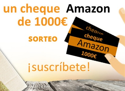 Cheque Amazon por valor de 1.000 euros