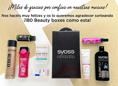 180 Beauty boxes repleta de productos de belleza.
