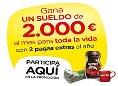 Sueldo Nescafé – Un sueldo mensual de 2000 euros