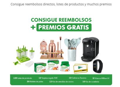 12 reembolsos y 191 premios en productos Truvía