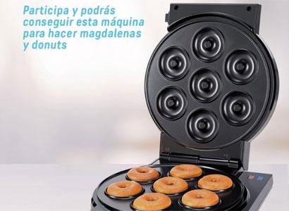 Una máquina para hacer magdalenas y donuts